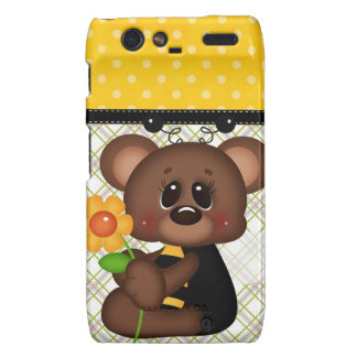Adorable Teddy Bear Bumble Bee Droid RAZR Covers