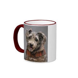 Adorable Terrier Portrait Ringer Coffee Mug