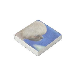 Adorable Tibetan Spaniel Stone Magnet
