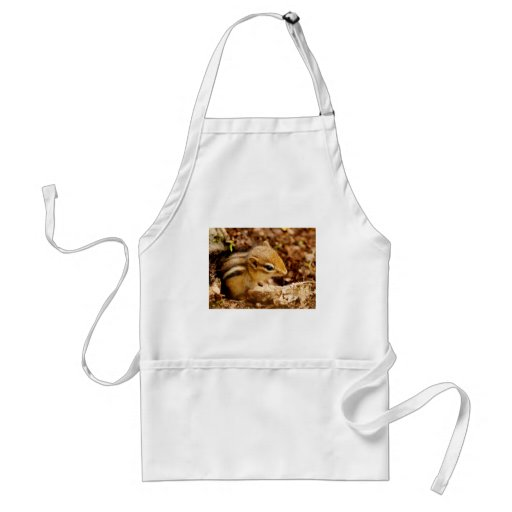 Adorable Tiny Baby Chipmunk Adult Apron