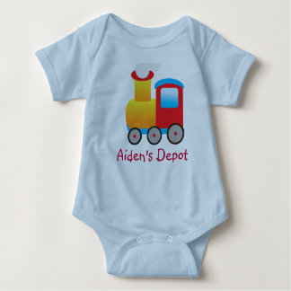 Adorable Train Outfit Baby Bodysuit