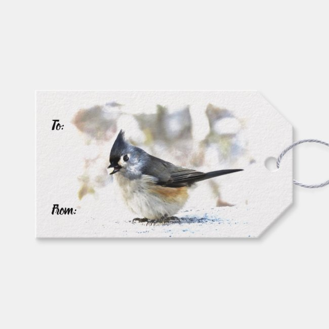 Adorable Tufted Titmouse Bird Pack of Gift Tags
