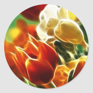 Adorable Tulips Classic Round Sticker