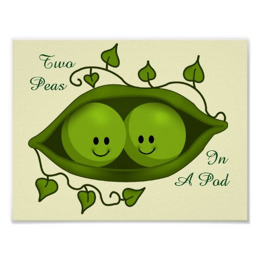 two peas in a pod Looking for the ideal two peas in a pod gifts come check out our giant selection of t-shirts, mugs, tote bags, stickers and more cafepress brings your passions to life with the perfect item for every occasion.