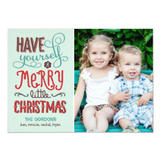 Adorable Type Christmas Photo Card at Zazzle