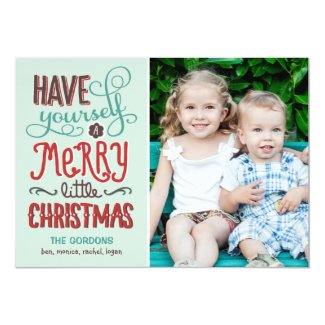 Adorable Type Christmas Photo Card