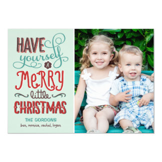 "Adorable Type Christmas Photo Card 5"" X 7"" Invitation Card"