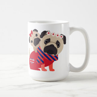 Adorable UK Pugs -Customize Classic White Coffee Mug