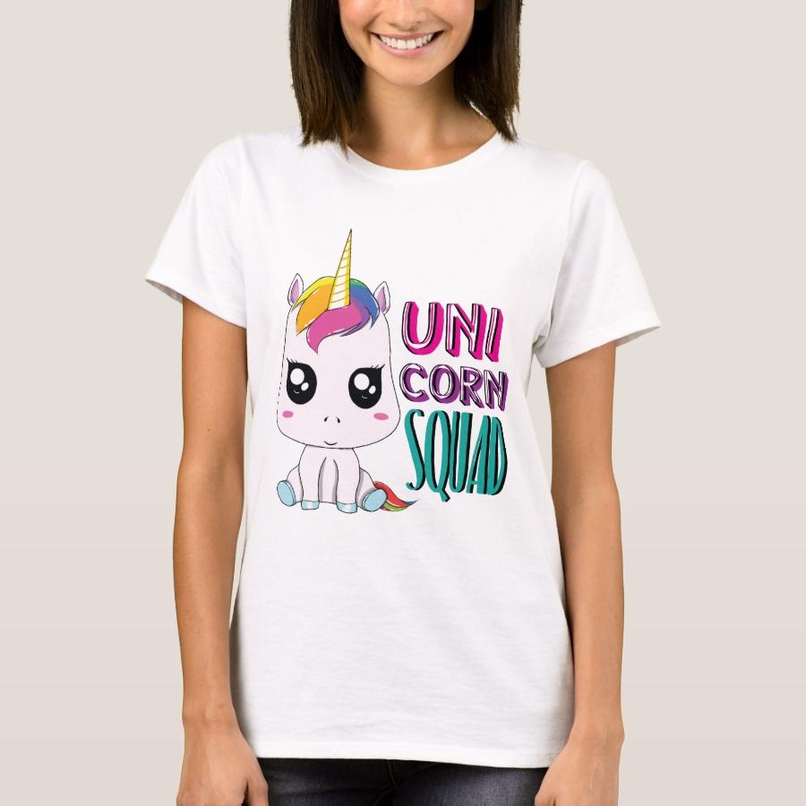 Adorable Unicorn Squad  Cute Rainbow Majestic Gift T-Shirt - Best Selling Long-Sleeve Street Fashion Shirt Designs