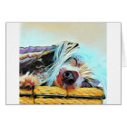 Adorable Unique Chinese Crested Blue Dog Card