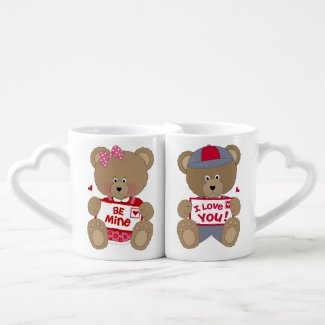 Adorable Valentine Bears Lovers' Mug Lovers Mug