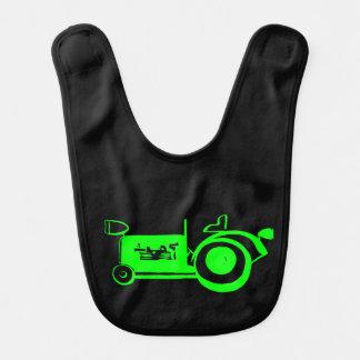 Adorable Vintage Bright Green Tractor Baby Bibs