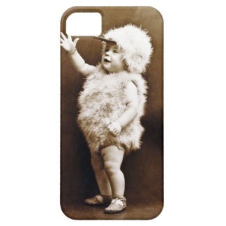 Adorable Vintage Chicken Suit Girl Baby Sepia iPhone SE/5/5s Case