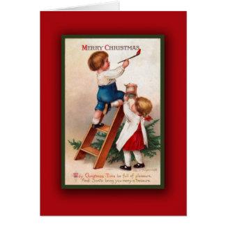 Adorable Vintage Christmas Art Card
