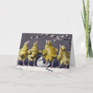 Adorable Vintage Easter Chicks card