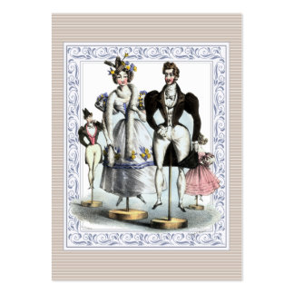 Adorable Vintage French Fashion Family of Dolls Large Business Cards (Pack Of 100)