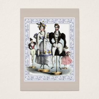 Adorable Vintage French Fashion Family of Dolls Business Card