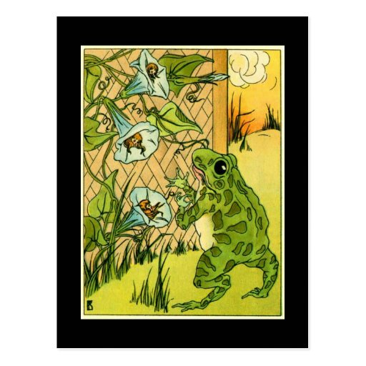 Adorable Vintage Frog Post Card