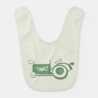 Adorable Vintage Green Tractor Baby Bibs