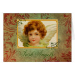 Adorable Vintage Irish Angel & Blessing Card