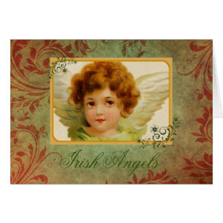 Adorable Vintage Irish Angel & Blessing Card