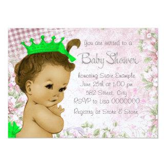 Adorable Vintage Pink Baby Shower Card