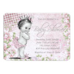 Adorable Vintage Pink Baby Shower Personalized Invite