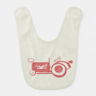 Adorable Vintage Red Tractor Baby Bib