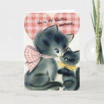 Adorable Vintage Valentine's Day Card for Mother