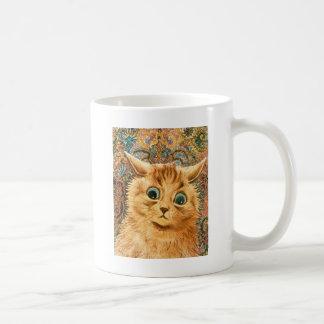 Adorable Wallpaper Cat by Louis Wain Coffee Mug