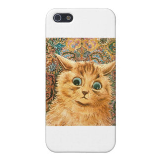 Adorable Wallpaper Cat by Louis Wain iPhone SE/5/5s Cover