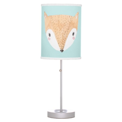 Adorable Watercolor Baby Fox Table Lamp