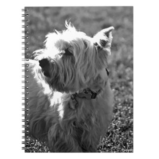 Adorable Westie Terrier Collection Spiral Notebook