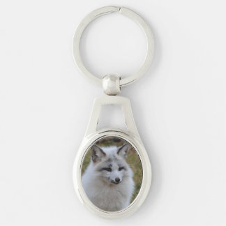 Adorable White Fox Keychain