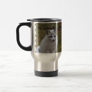Adorable White Fox Travel Mug