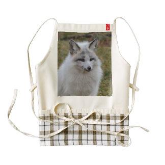 Adorable White Fox Zazzle HEART Apron