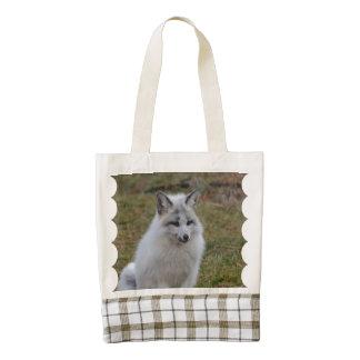 Adorable White Fox Zazzle HEART Tote Bag