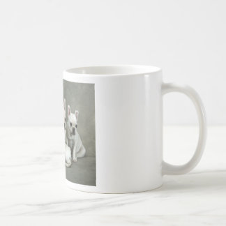 Adorable White French Bulldogs Coffee Mug