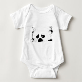 Adorable white Maltese puppy dog Baby Bodysuit