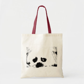 Adorable white Maltese puppy dog Tote Bags