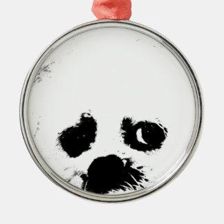 Adorable white Maltese puppy dog Christmas Tree Ornaments