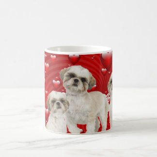 Adorable White Shih Tzu Puppies Coffee Mug