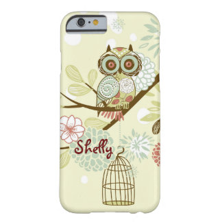 Adorable Wide Eyes Owl Personalized iPhone Case Barely There iPhone 6 Case