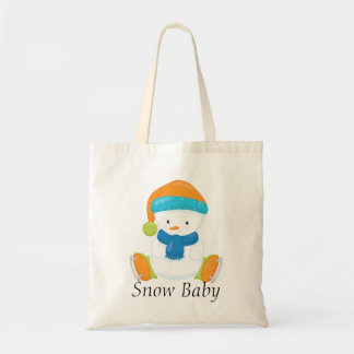 Adorable Winter Theme Snow Baby Snowman Tote Bag