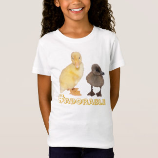 Adorable Yellow and Gray Ducklings Photograph T-Shirt