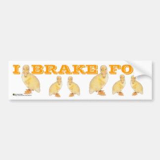 Adorable Yellow Duckling Photograph Bumper Sticker