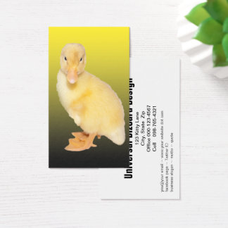 Adorable Yellow Duckling Photograph Business Card