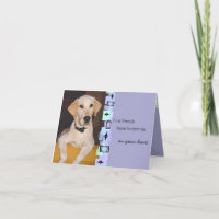 Adorable Yellow Lab Puppy Birthday Greeting Card
