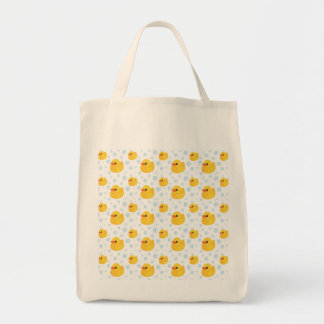 Adorable Yellow Rubber Ducks Duckies Grocery Tote Bag