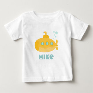 Adorable Yellow Submarine Submerged Underwater Baby T-Shirt